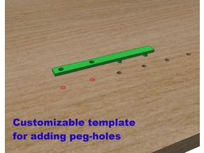 Template for more peg-holes in your bookcase or..., customizable