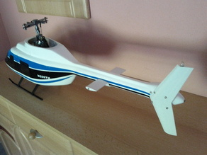 Bell 206 Tailfin and Stabilizer for 450 Size Fuselage