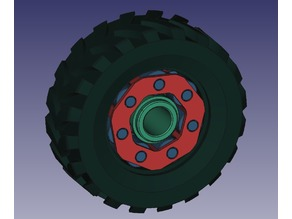 Toy wheel with roller bearing