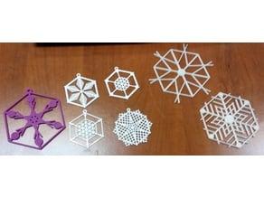 Random Snowflake Ornament Generator