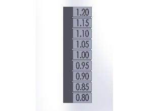 Extrusion multiplier test