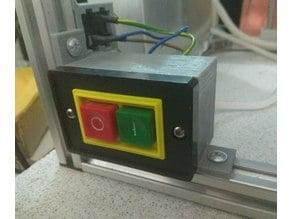 Start Stop Push Button Switch - installation on printer