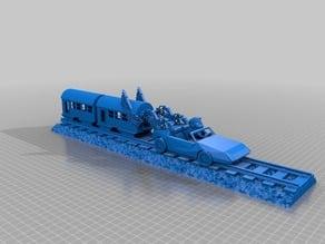 back to the future delorian train