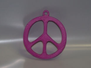 Peace Sign Keychain Or Medallion