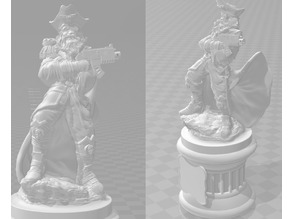 Rogue Trader WH40k - Plunderbuss Pete - Statue