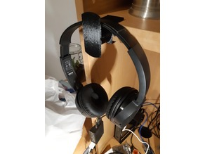 Headphone Hook for 25mm thick timber shelving