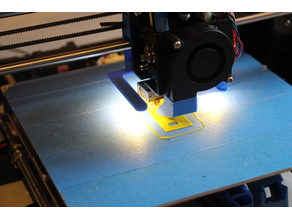 Anet A8 extruder LED strip light y-axis mount