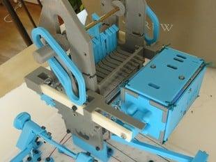 10-hook mechanical punch card reader