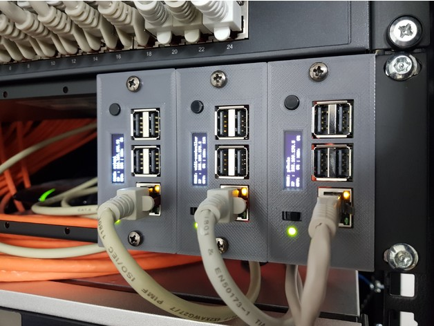 RackPi Raspberry Pi (2B / 3B / 3B+) Rack Shield 19