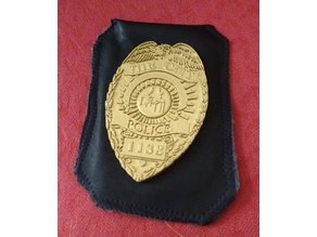 Police Badge with customizable name, logo and number