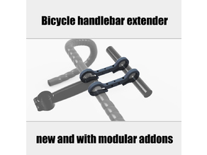 Bicycle handlebar extender v2