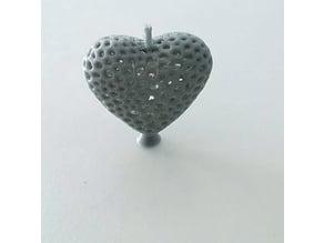 Voronoi Heart Pendant