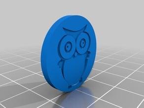 Owl shopping chip / Eulen Einkaufsmarke