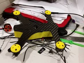 Quad skid for 1306 and 1407 size motors