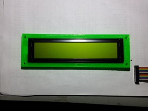 Character LCD holder - I needed a simple enclosure for a 40x4 character LCD so I made one!