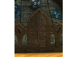 Gate for three-path dice tower v.2