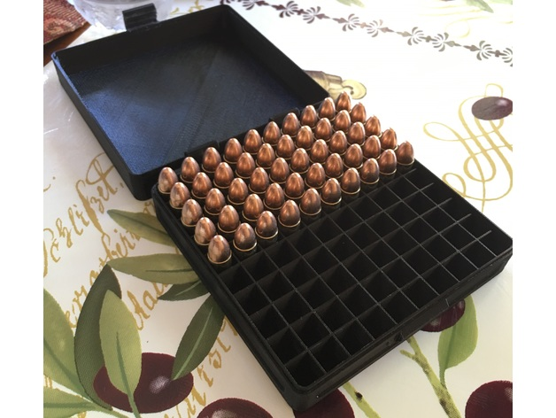 9mm ammo box 100 rounds by metalzim