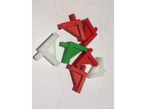 To support L - shaped pegs - diameter pin 5mm