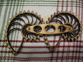 Laser Cut Nautilus Gears - Plywood