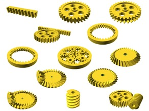 Getriebe Bibliothek für OpenSCAD / Gears Library for OpenSCAD