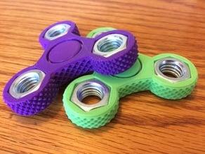 Knurled Tri-Spinner Fidget Widget / Triple Bearing Spinner