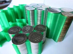 Swedish Coin Holders 100 kr 210 kr 640 kr and 1360 kr