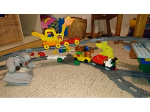 Lego Duplo train super bridge building brick - 2mm thin 2x4 brick