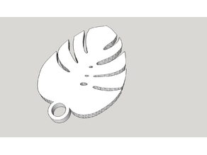 monstera key chain