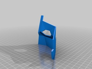 Printable Low Poly mask (Fits 13x13x8.5 cm)