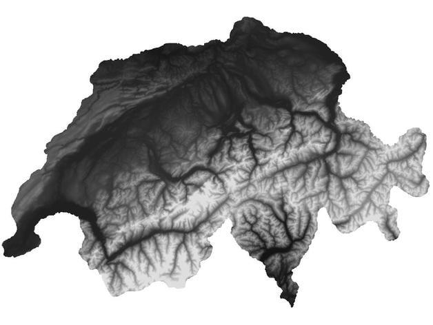 Switzerland Elevation Map.Switzerland 3d Height Map By Printedhuman Thingiverse