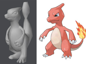 Pokemon Low Poly Charmeleon