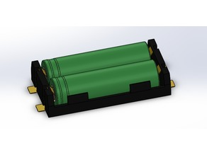 Battery holder for 2x 18650 model