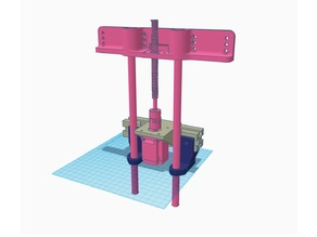 Hypercube Evolution Z-Axis Bed Support  BallScrew 1204 Dual Rods