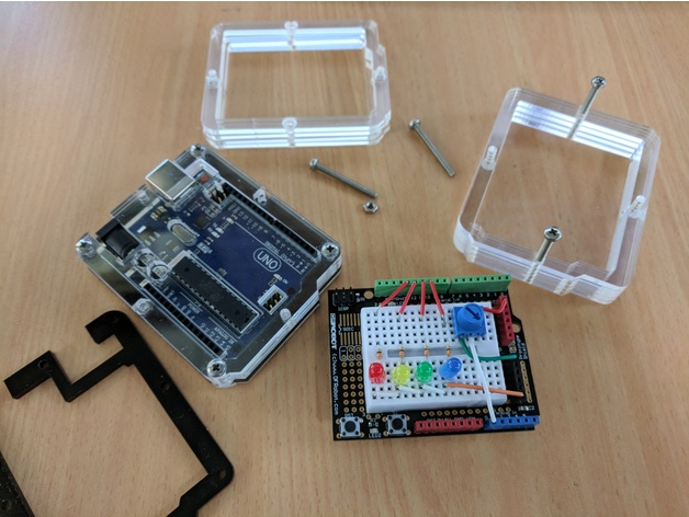 Laser Cut High-Rise Case for the Arduino Uno by