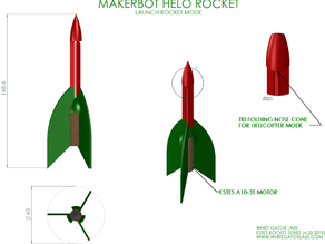 Helo model Rocket & Launch Pad (Estes Style)