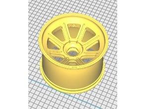 18x12 Gt Style Wheel