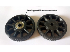"Cart Wheel (70mm/2,75"" diameter)"