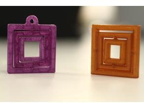 Square Rotating Gimbal pendant