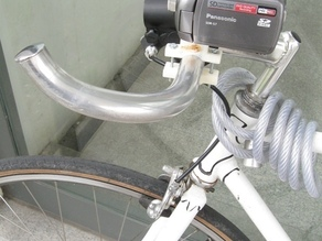 Camera holder to bicycle