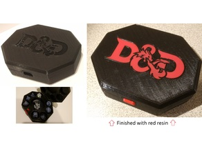 D&D Dice Box + Miniature Storage