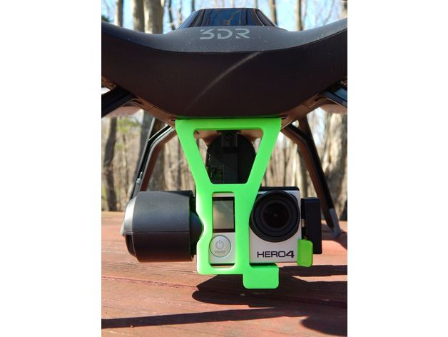 3DR Solo Gimbal Holder for GP Hero 4 Black (no weights) by