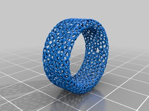 Voronoi styled ring for men