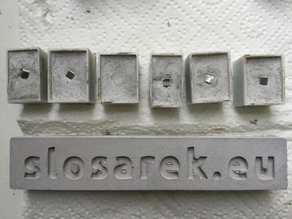 Alphabet molds a–z. Build your own fridge messages