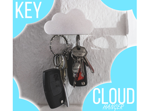 Key Hanger Cloud Design with Magnet easy assembly