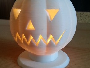 Halloween Pumpkin Head Tealight Candle Holder