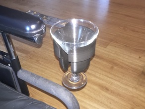 Improved Wheelchair Cupholder