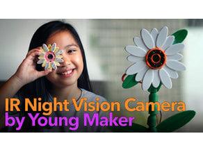 PI ZERO IR Night Vision Camera - Flower and Pot case design