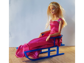 Barbie's sledge sled