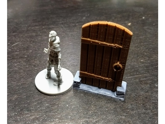 Zombicide Black Plague Door Token By Snickett Thingiverse