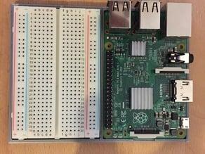 Raspberry Pi 2 + Breadboard combination Tray